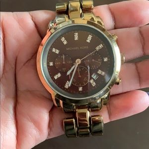 Michael Kors watch Chocolate Rose Gold color